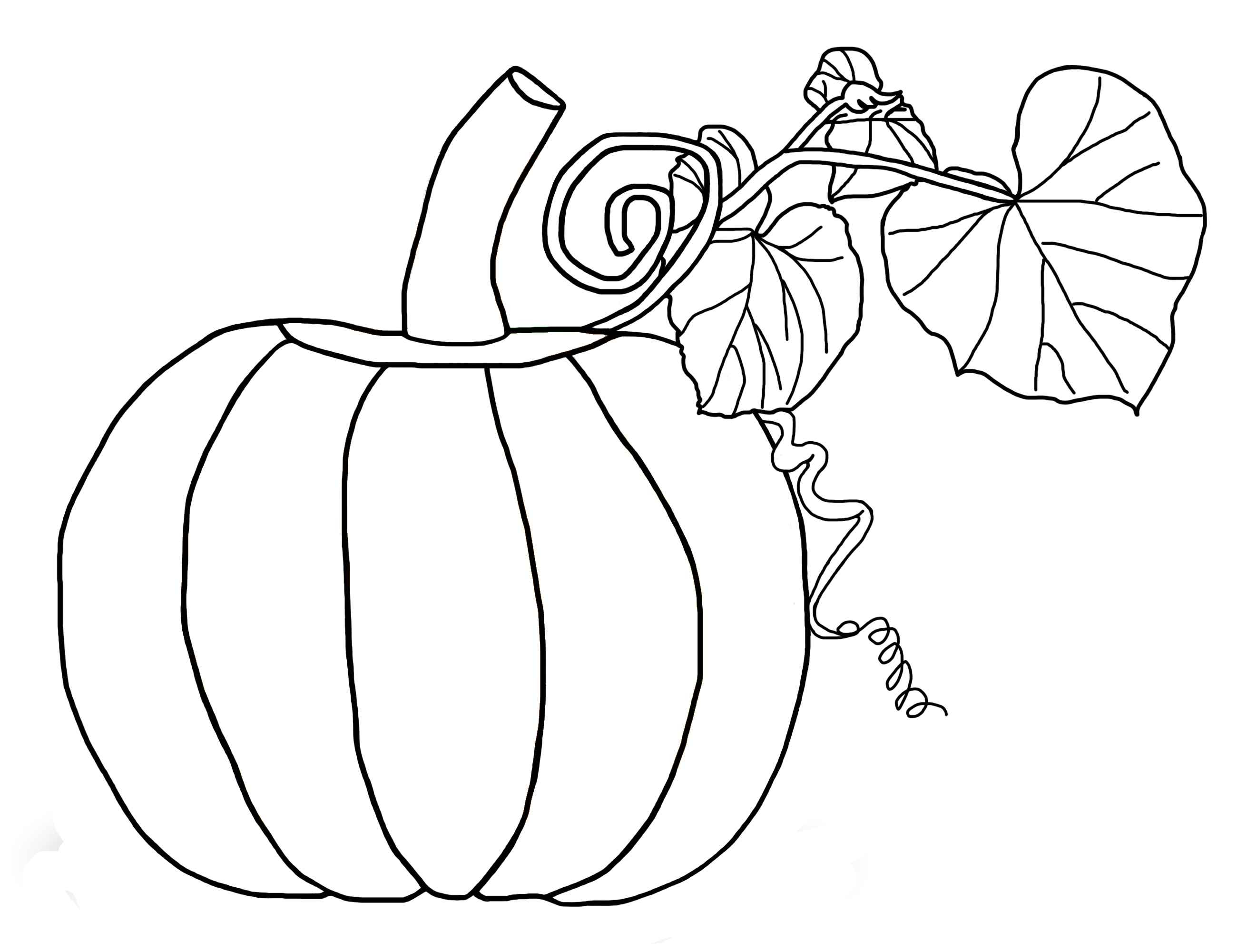 Free Pumpkin Coloring Pages For Kids - Free Printable Pumpkin Coloring Pages