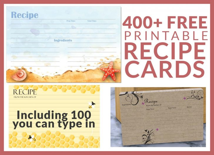 Free Printable Recipes
