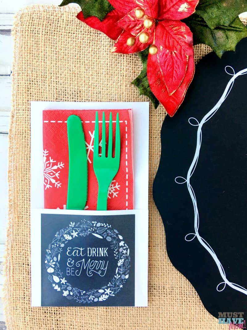 Free Rustic Christmas Party Printables - Must Have Mom - Free Printable Christmas Party Signs