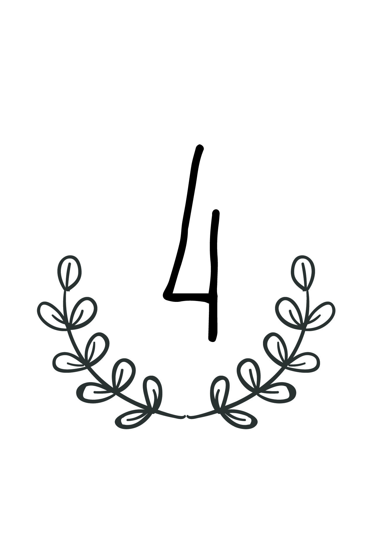 Free Rustic Wedding Table Number Printable   Future Wedding - Free Printable Table Numbers