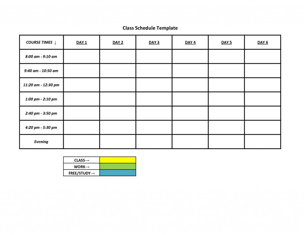 Free Schedule Maker App Middle School Class Planner For Teachers - Free Printable Work Schedule Maker