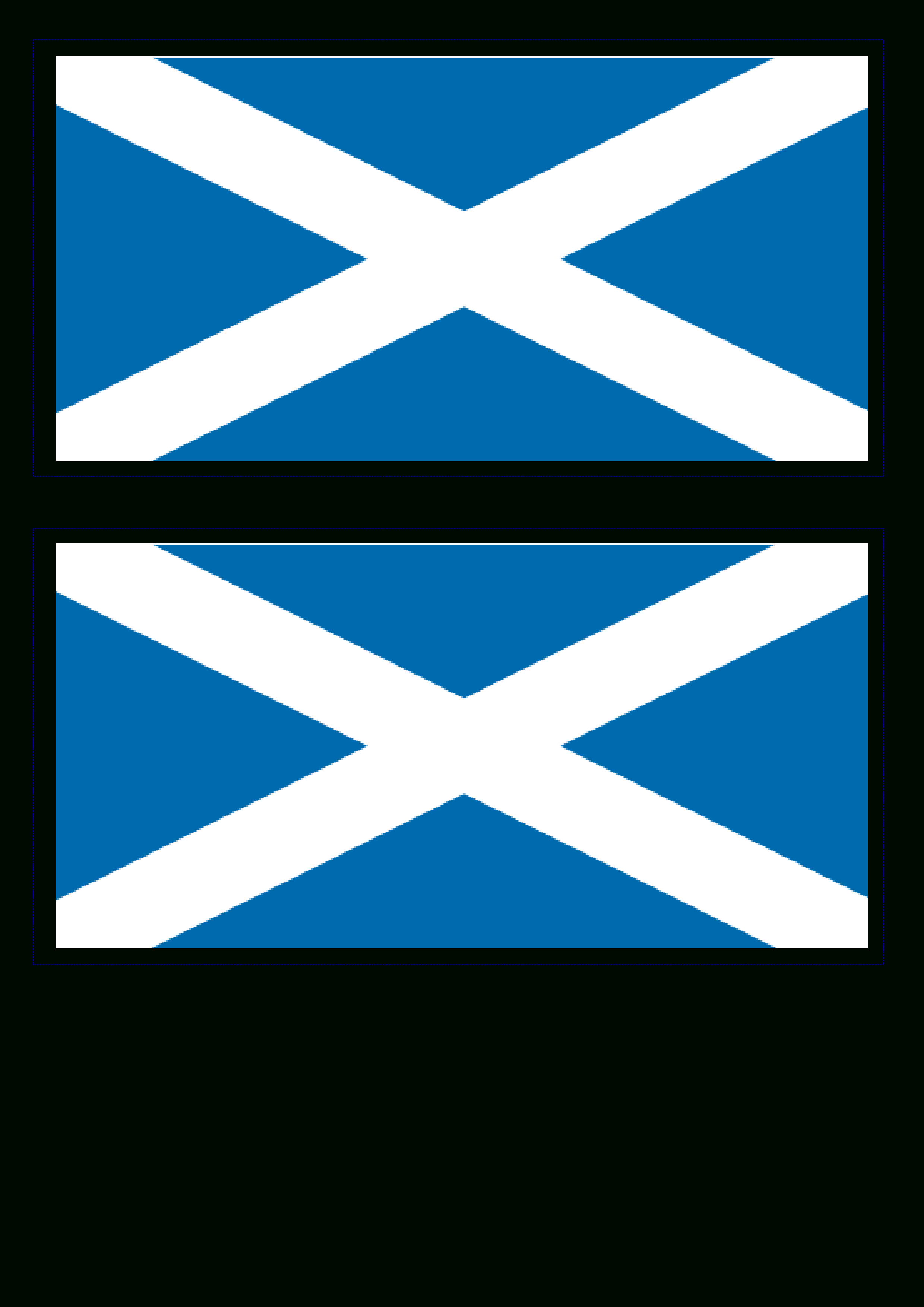 Free Scotland Flag   Templates At Allbusinesstemplates - Free Printable Scottish Flag