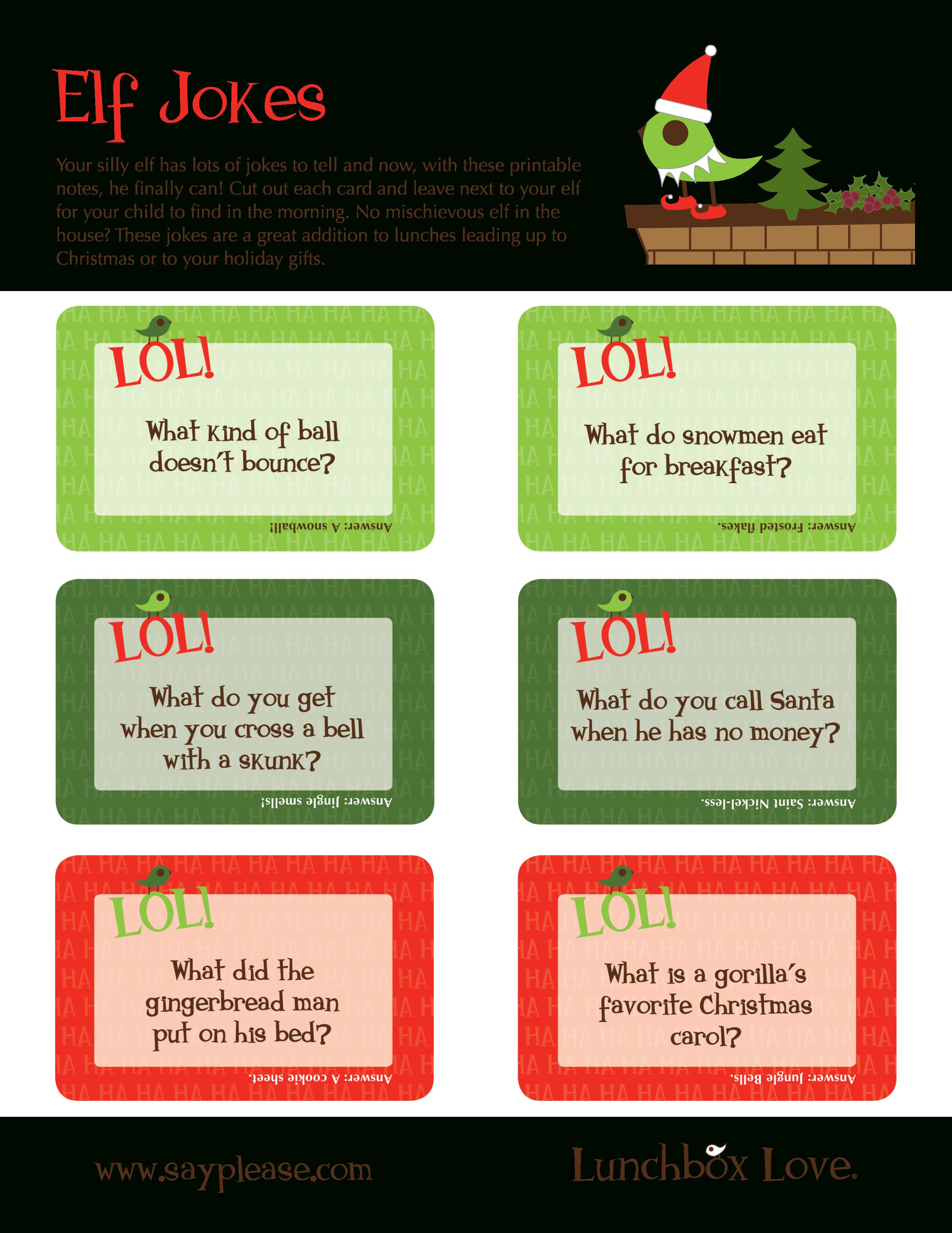Free Seasonal Printables - Sayplease - Free Printable Jokes For Adults