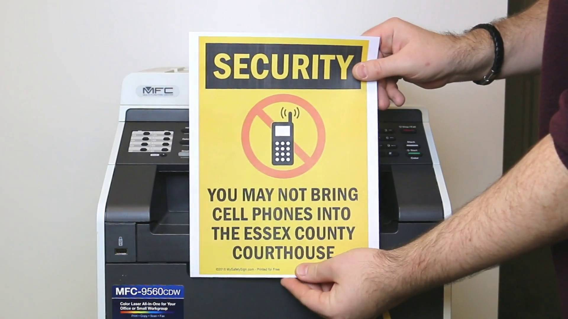 Free Security, Cctv And No Trespassing Signs - Free Printable Smile Your On Camera