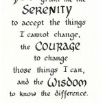Free Serenity Prayer Printable Version | Serenity Prayer   Free Printable Serenity Prayer
