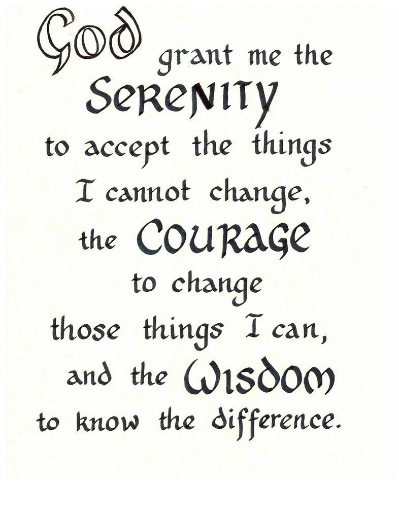 Free Serenity Prayer Printable Version | Serenity Prayer - Free Printable Serenity Prayer