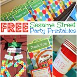 Free Sesame Street Birthday Party Printables   Free Printable Sesame Street Food Labels