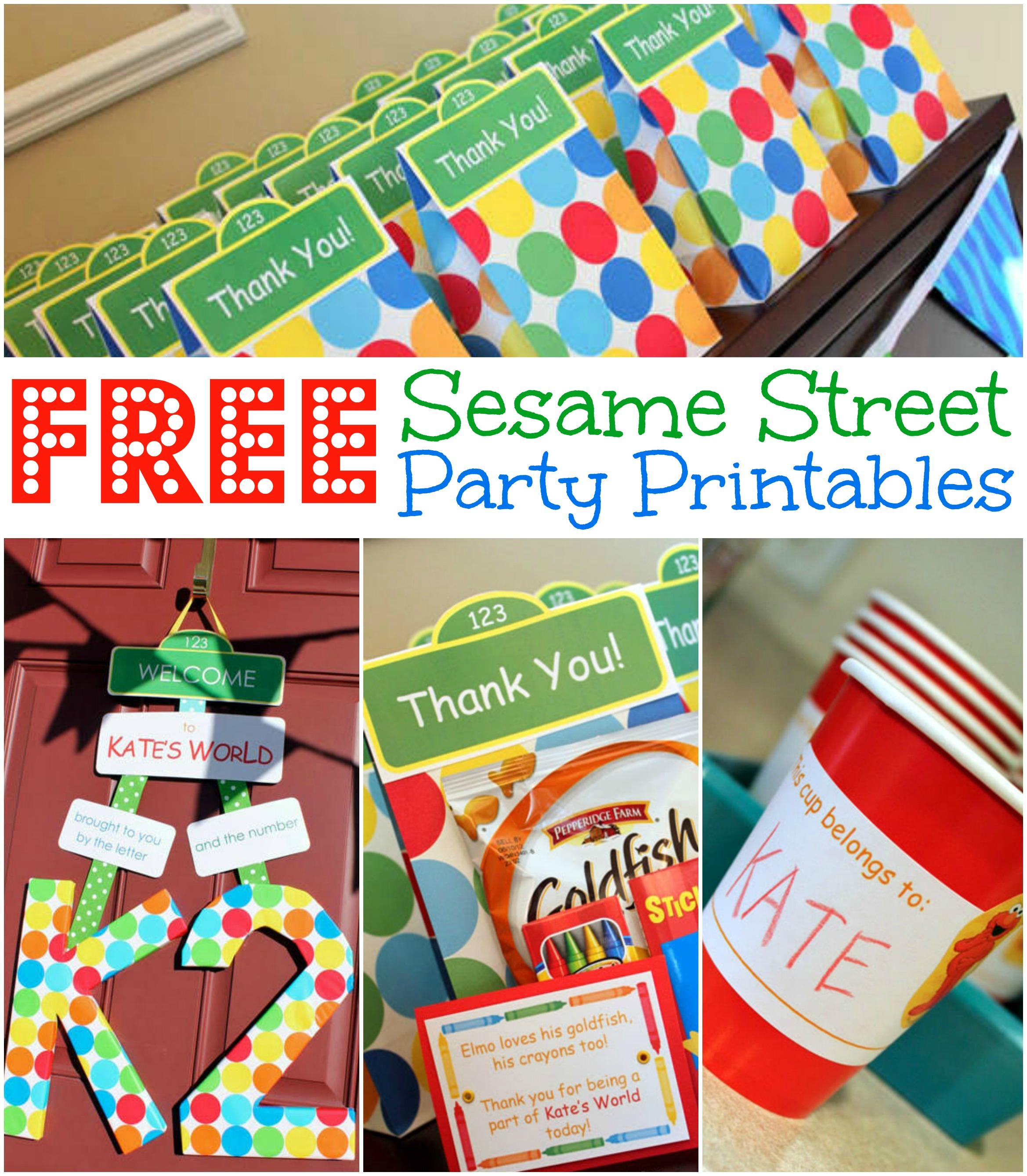 Free Sesame Street Birthday Party Printables - Free Printable Sesame Street Sign