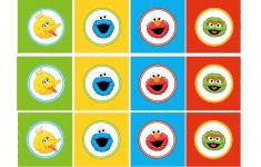 Free Sesame Street Printables | Party-Circles-Characters-Colorblocks - Free Printable Sesame Street Cupcake Toppers