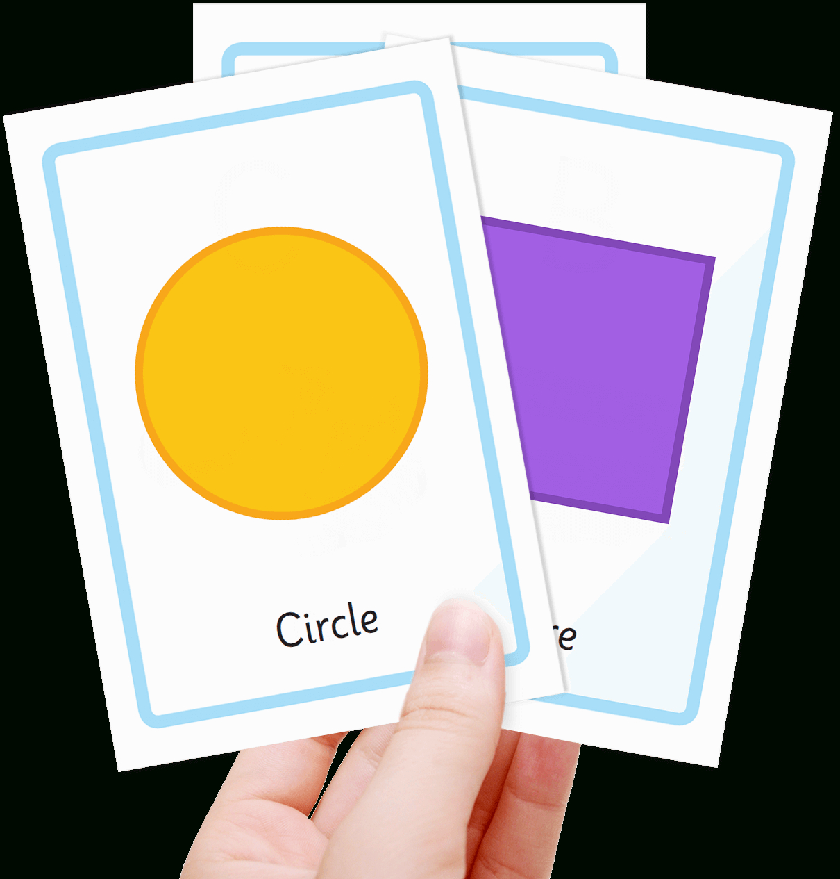 Free Shape Flashcards For Kids - Totcards - Large Printable Shapes Free