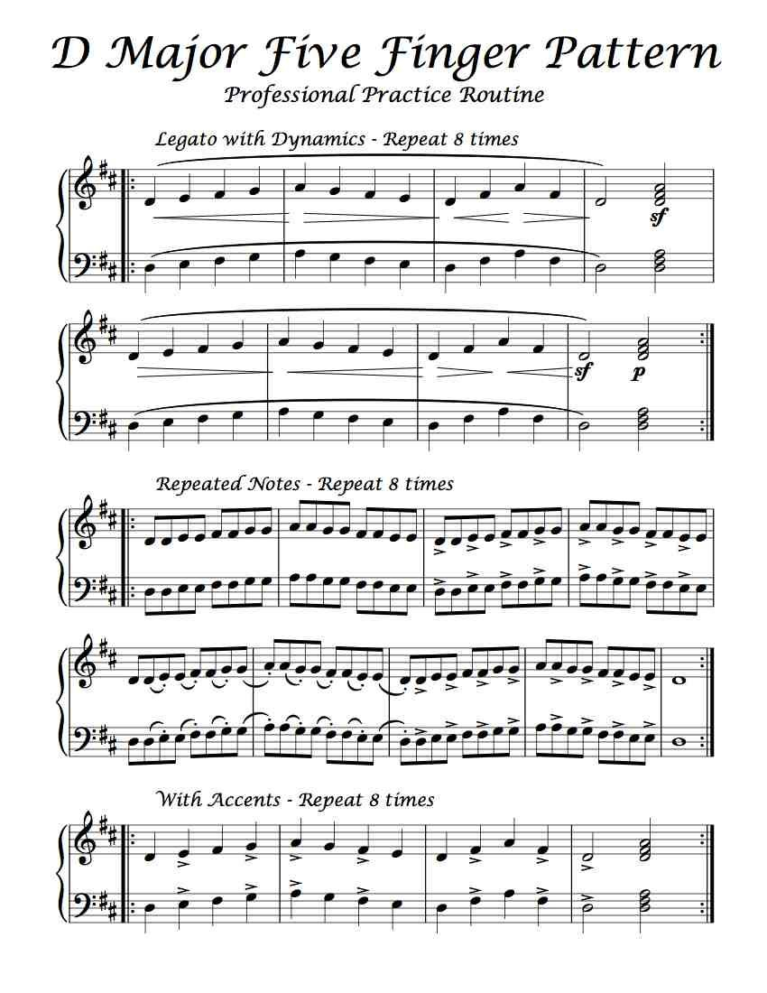 Free Sheet Music - Here Is A Professional Practice Routine Of D - Free Printable Hoy Sheets