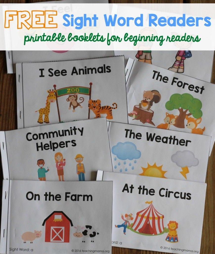 Free Sight Word Readers - Printable Booklets That Focus On Sight - Free Printable Story Books For Kindergarten