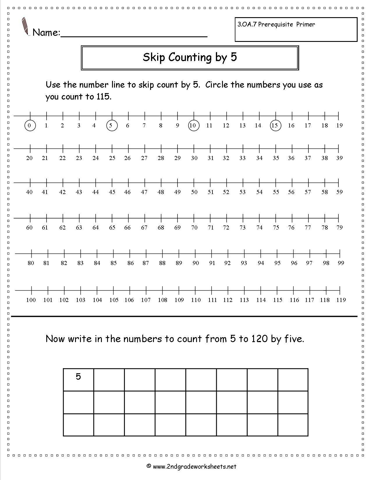 Free Skip Counting Worksheets - Free Printable Counting Worksheets