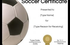 Free Soccer Award Certificates Printable