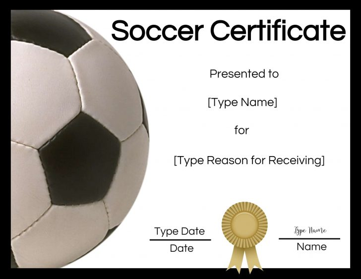 Free Soccer Award Certificates Printable
