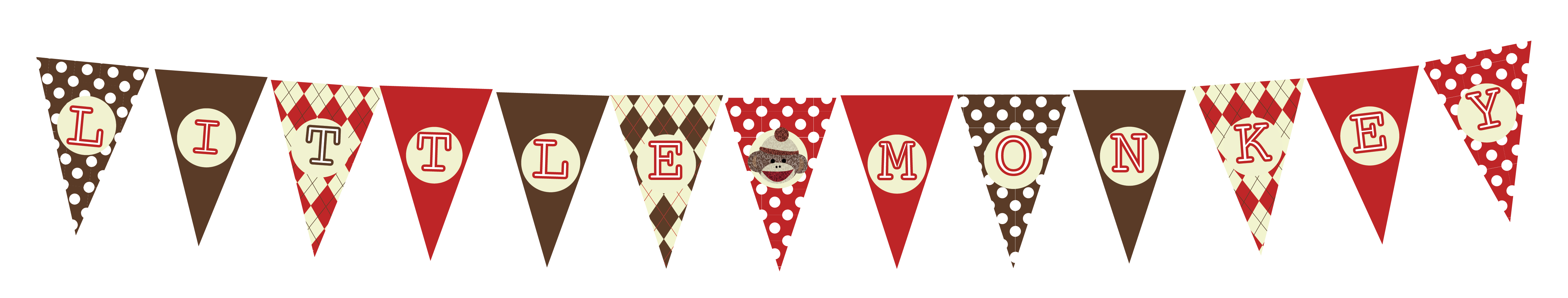 Free Sock Monkey Printable Decorations For Baby Shower Or Birthday - Free Printable Sock Monkey Pictures