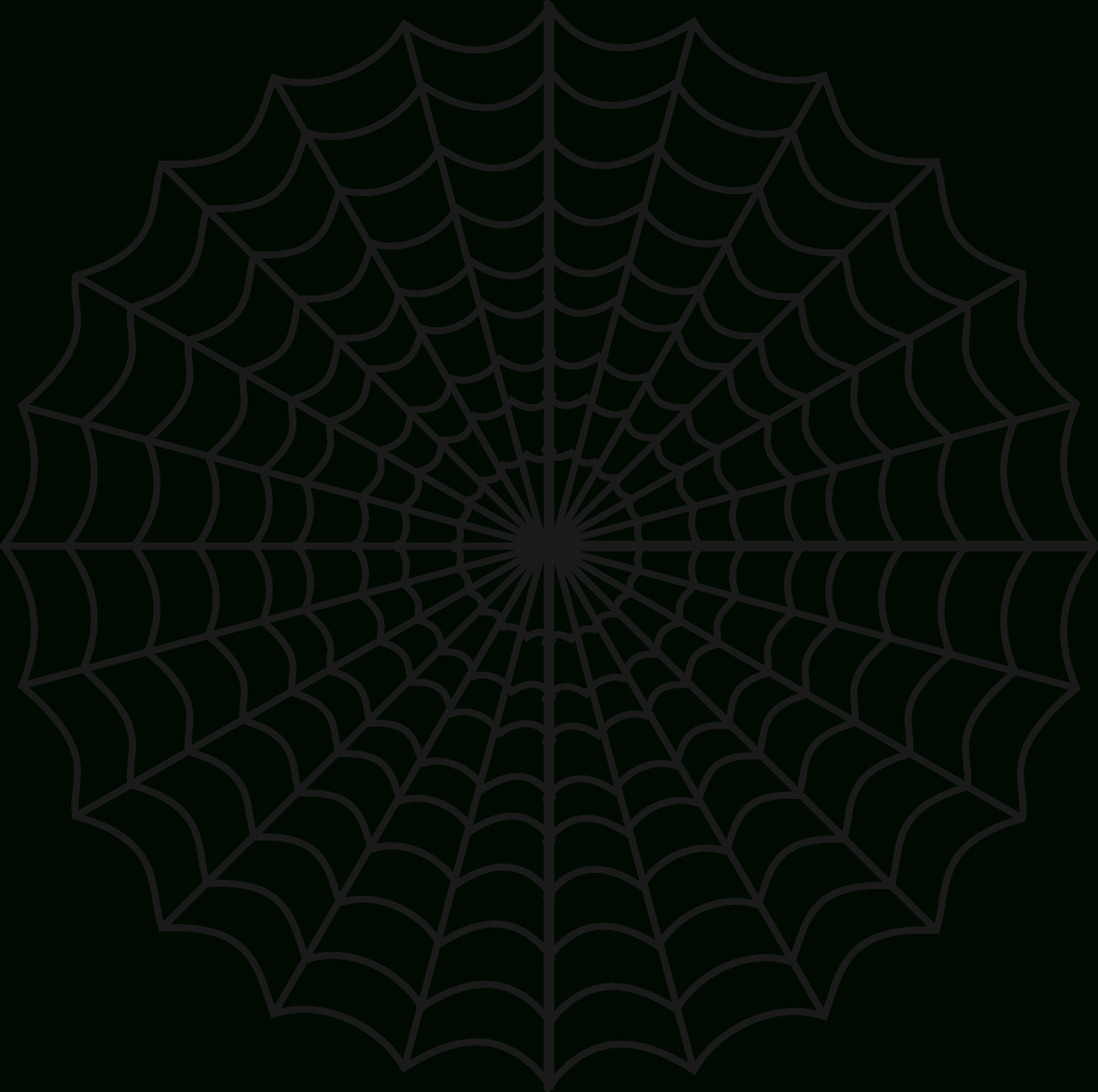 Free Spiders Web, Download Free Clip Art, Free Clip Art On Clipart - Spider Web Stencil Free Printable