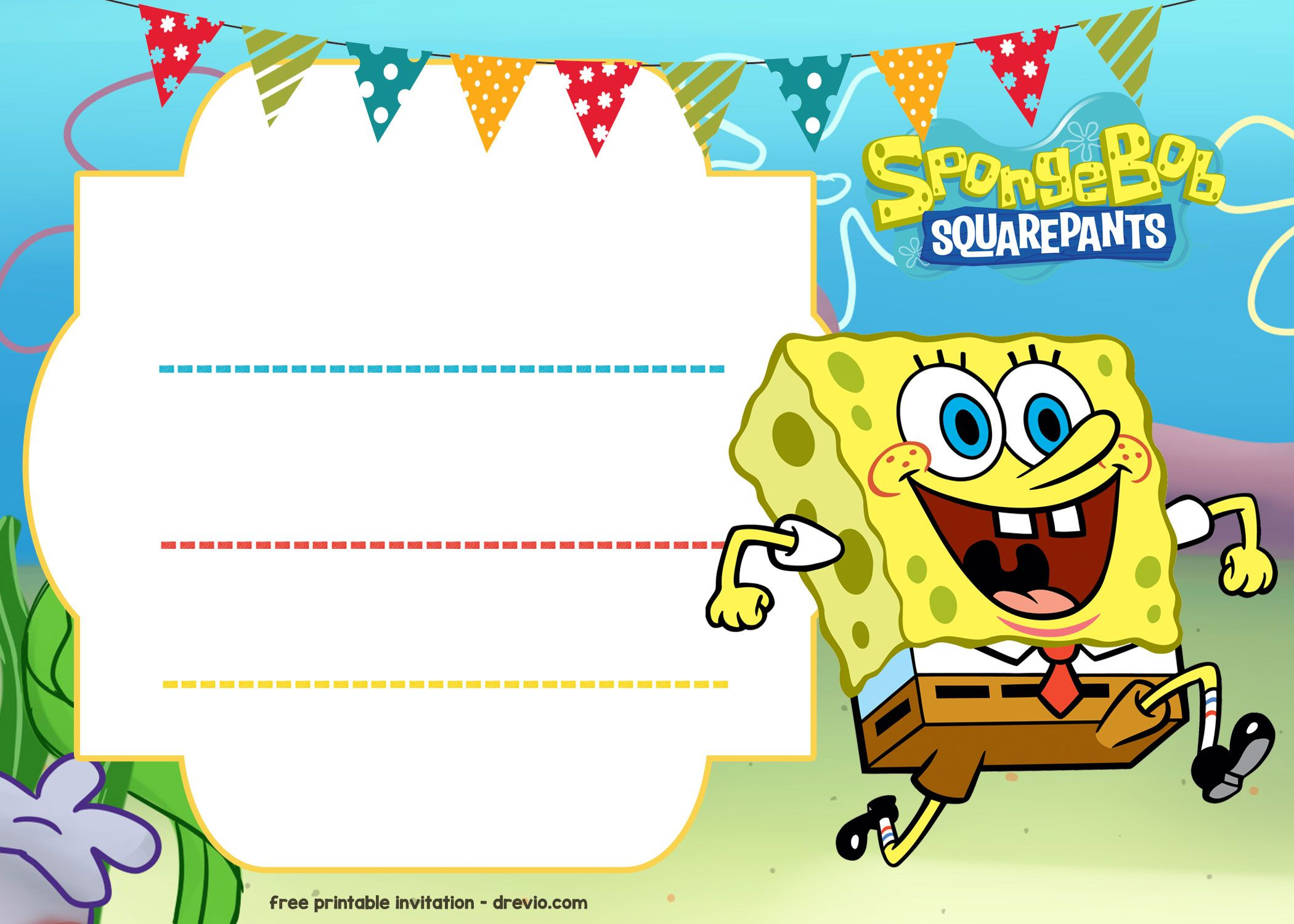 Free Spongebob Birthday Invitation | Free Printable Birthday - Spongebob Free Printable Invitations