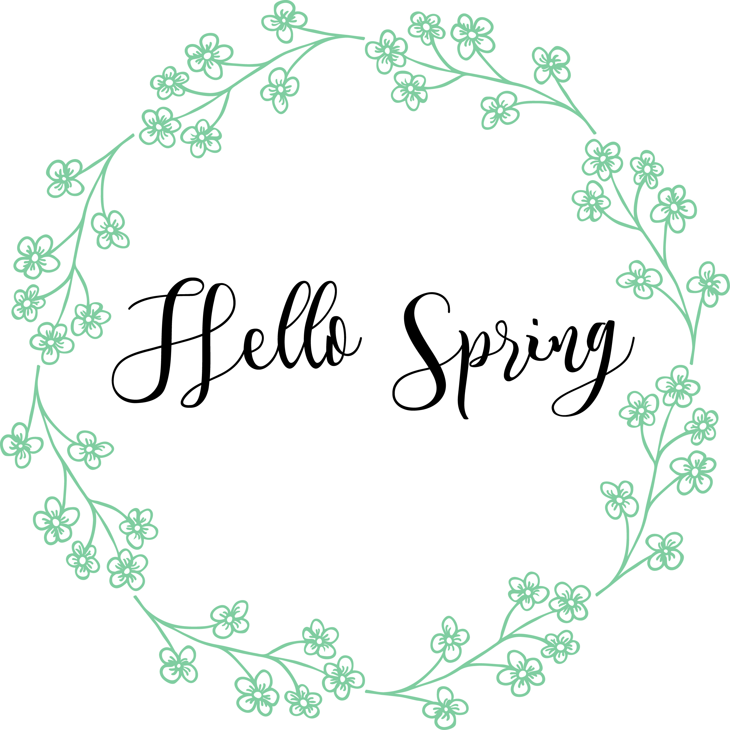Free Spring Printables   Spring Decor   Nufun Activities - Free Printable Spring Decorations
