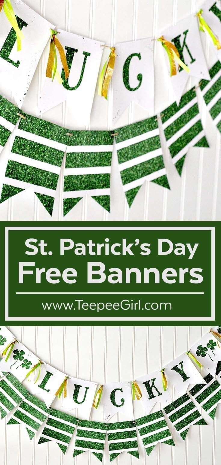 Free St. Patrick's Day Banner | Recipe & Holiday Favorites - Free Printable St Patrick's Day Banner