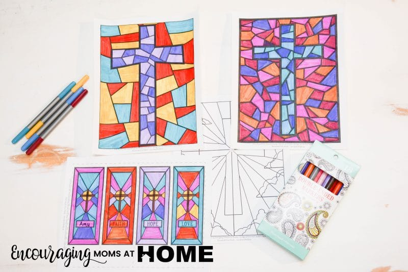 Free Stained Glass Coloring Pages And Bookmarks For Easter - Free Printable Religious Easter Bookmarks
