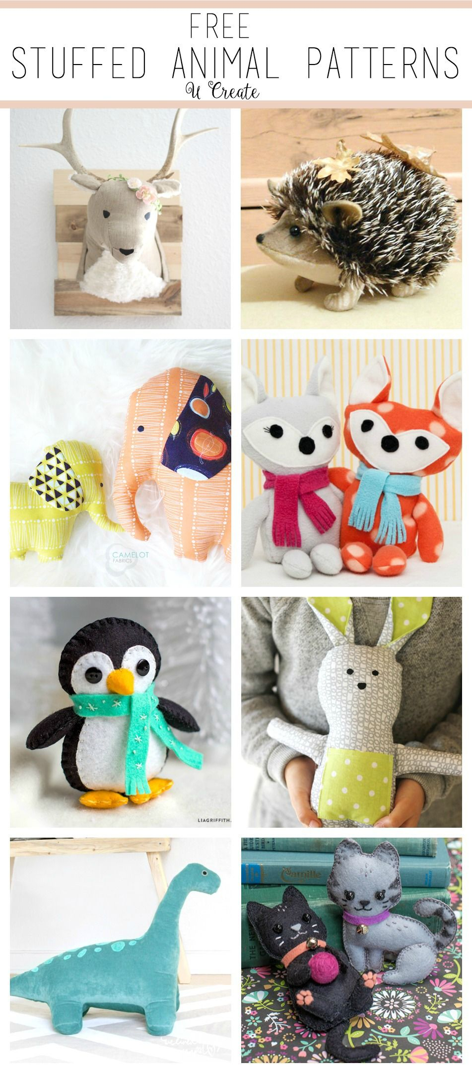 Free Stuffed Animal Patterns - The Cutest | Amigurumi | Pinterest - Free Printable Stuffed Animal Patterns