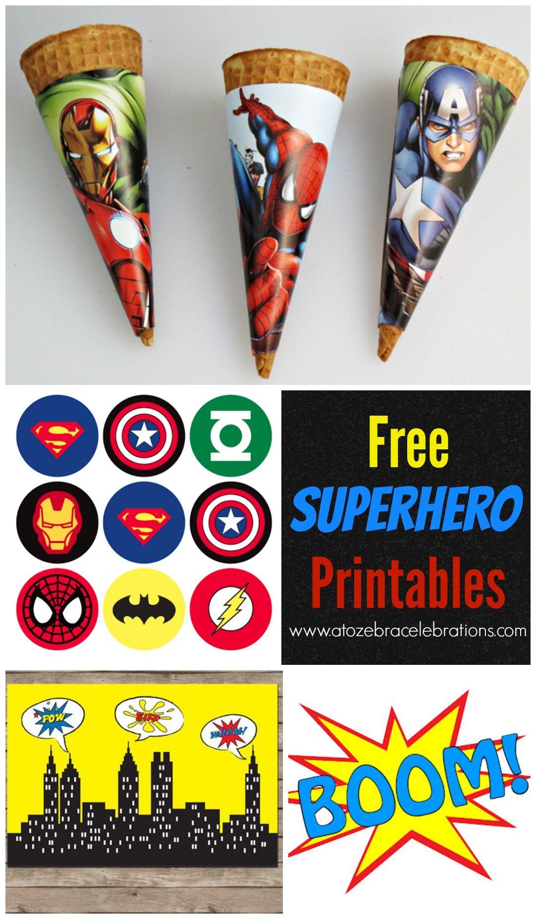 Free #superhero Party Printables | Future Bday Parties | Superhero - Free Printable Superhero Pictures