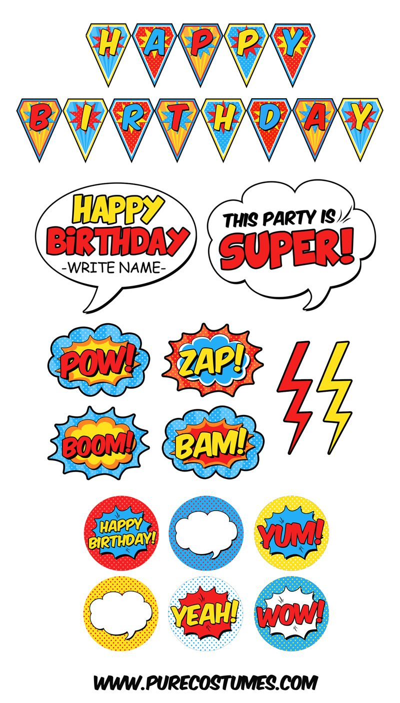 Free Superhero Pary Printables | Super Parties For Superheroes - Superhero Name Tags Free Printable