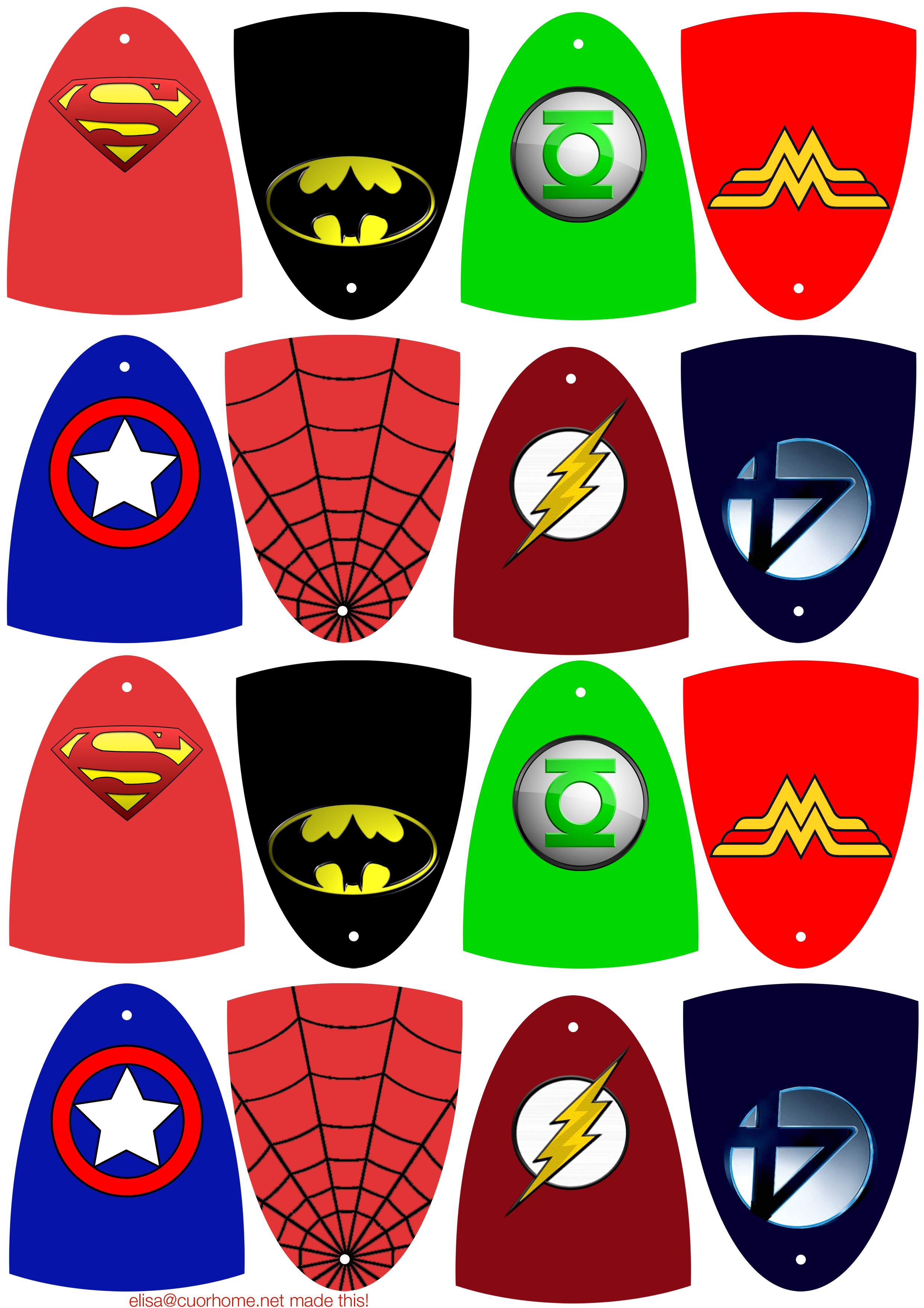 Free Superhero Printables Clipart Collection - Free Printable Superhero Pictures