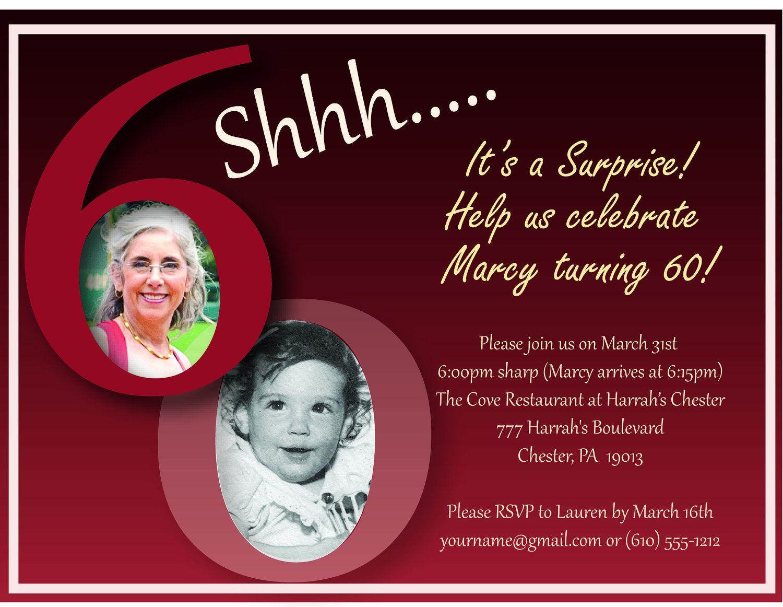Free Surprise 60Th Birthday Party Invitation – Invitetown | Projects - Free Printable Surprise 60Th Birthday Invitations