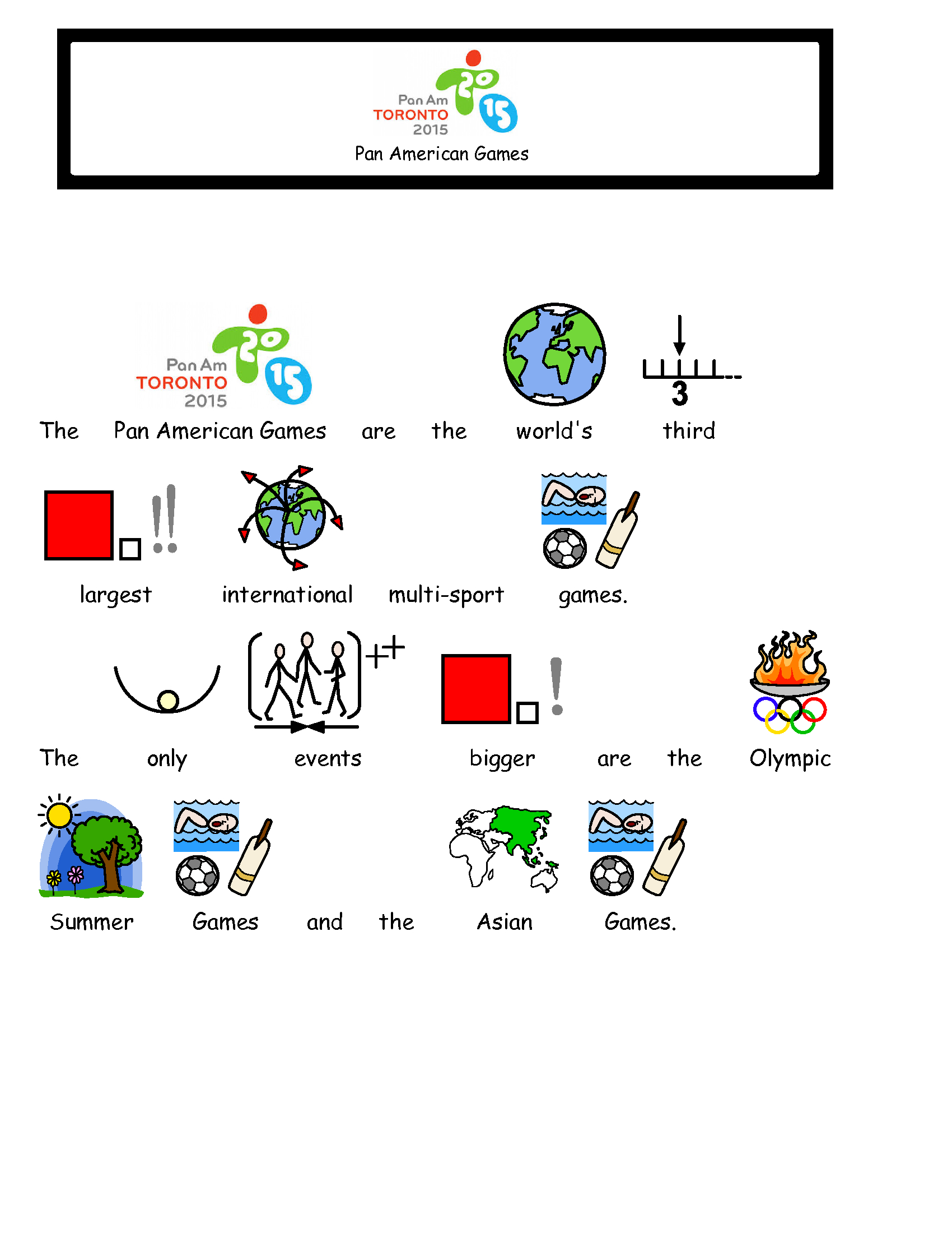 Free Symbolized Resources For 2015 Pan Am Games – Bridges Canada - Free Printable Widgit Symbols