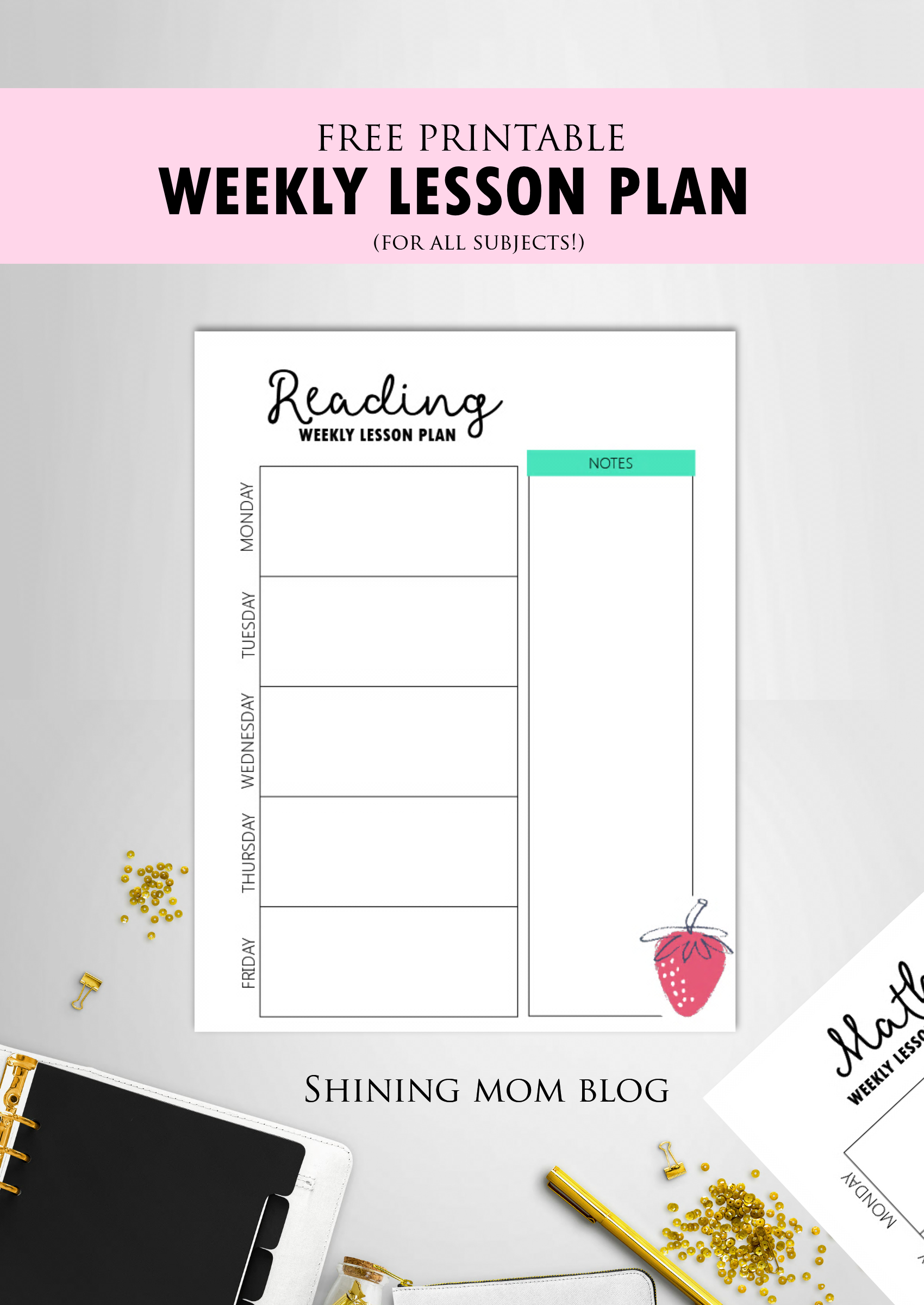 Free Teacher Binder Printables: Over 25 Pretty Planning Templates! - Free Printable Teacher Planner