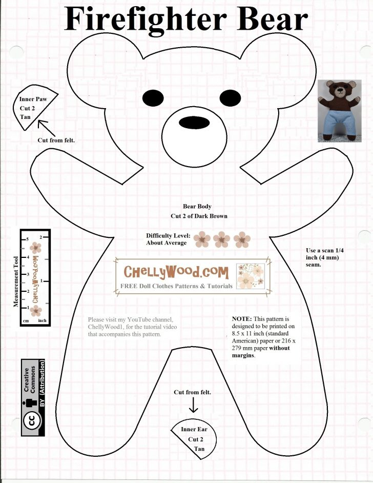 Free Teddy Bear Patterns Printable