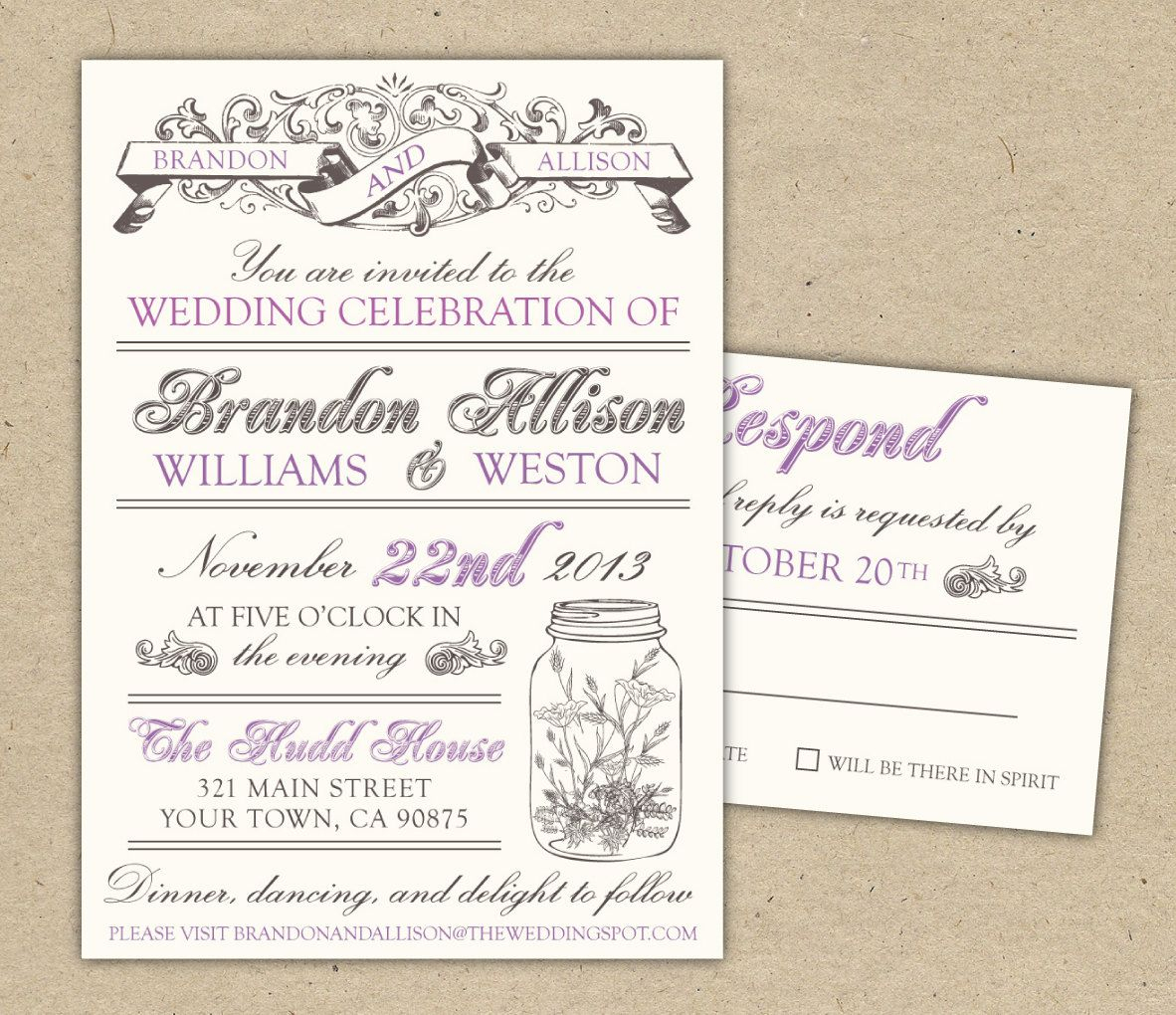 Free Templates For Invitations   Free Printable Vintage Wedding - Free Printable Wedding Invitation Templates For Word