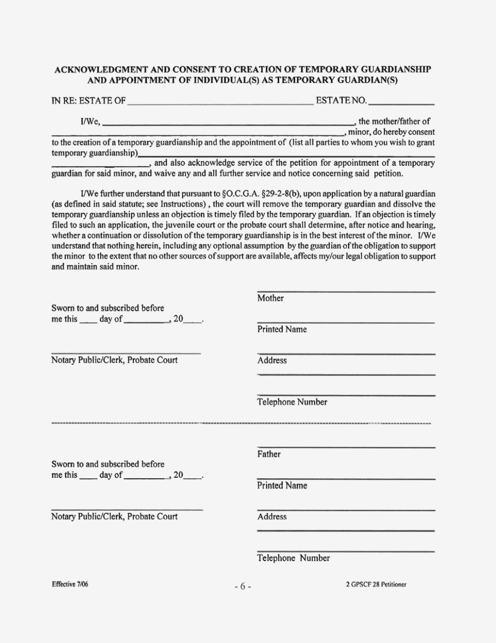 Free Temporary Guardianship Forms Kansas | Resume Examples – Free - Free Printable Temporary Guardianship Form