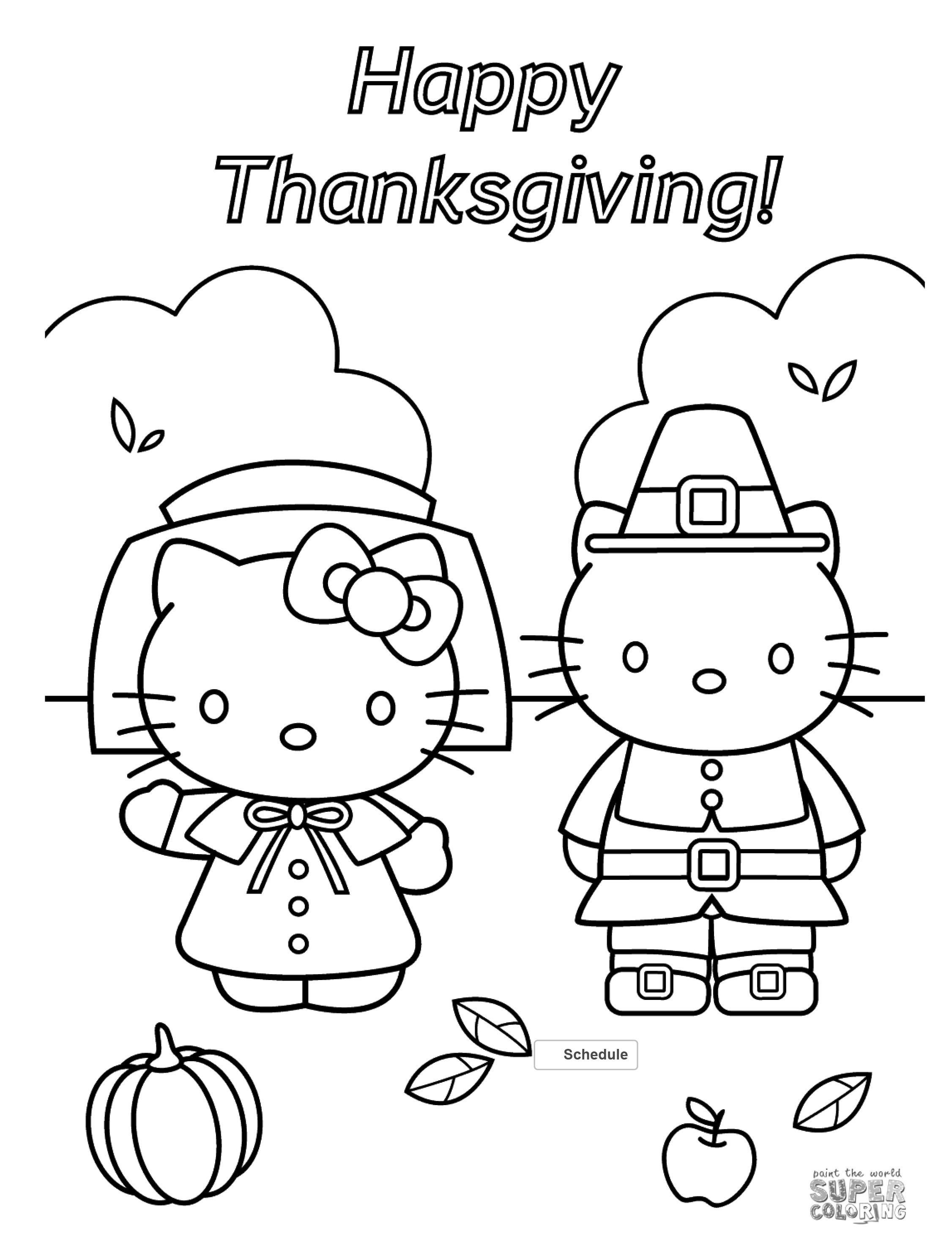 Free Thanksgiving Coloring Pages For Adults & Kids - Happiness Is - Free Printable Thanksgiving Coloring Placemats