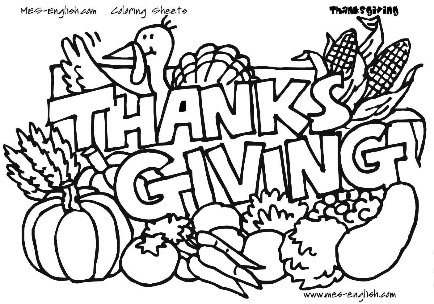 Free Thanksgiving Coloring Pages For Kids - Free Printable Turkey Coloring Pages