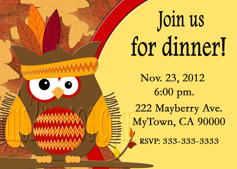 Free Thanksgiving Dinner Invitations - Free Printable Thanksgiving Dinner Invitation Templates