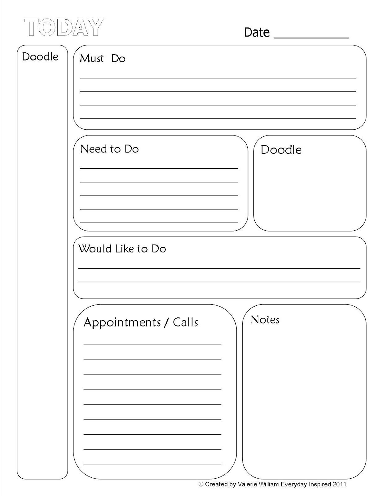 Free To Do List | Printable To-Do List | Planner Addict - Free Printable To Do List Planner