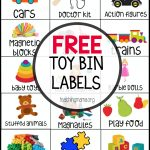 Free Toy Bin Labels – Free Printable Classroom Labels With Pictures