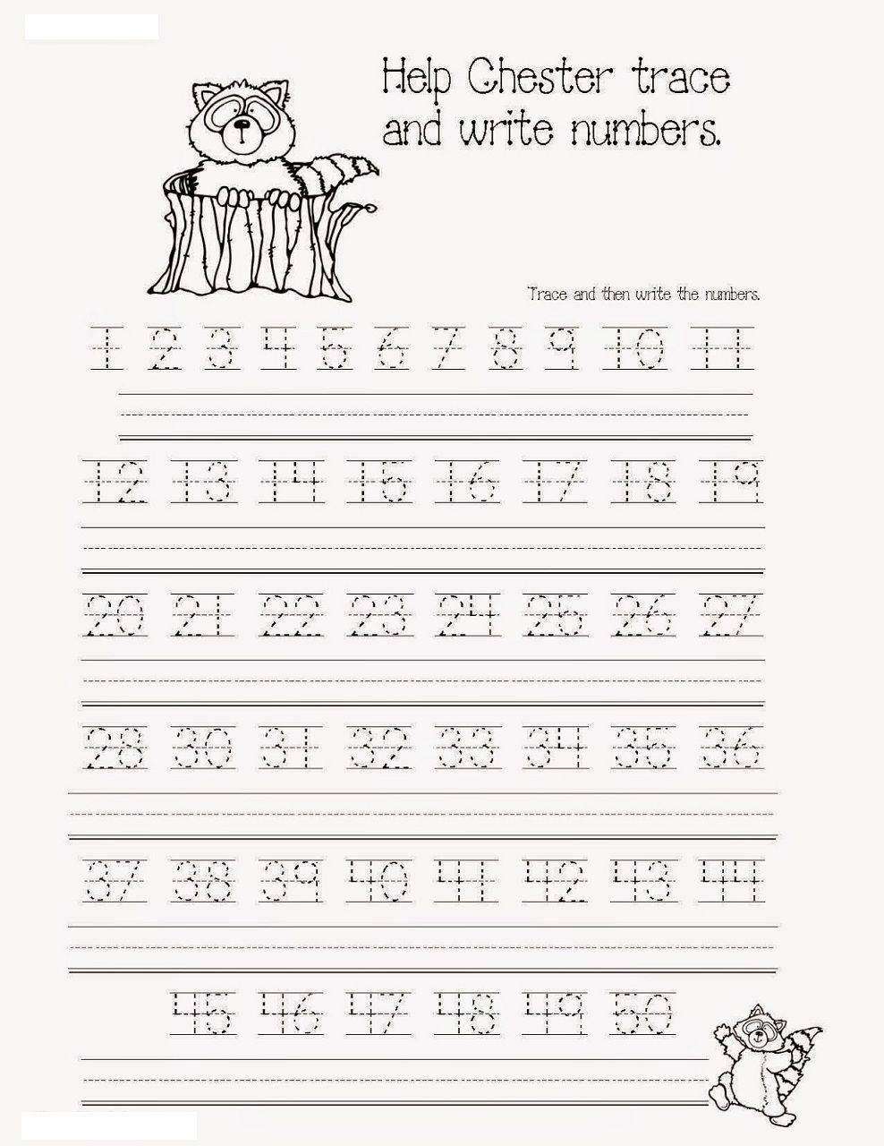 Free Tracing Numbers 1 50 K5 Education Resources | Violet Prek - K - Free Printable Tracing Numbers 1 50