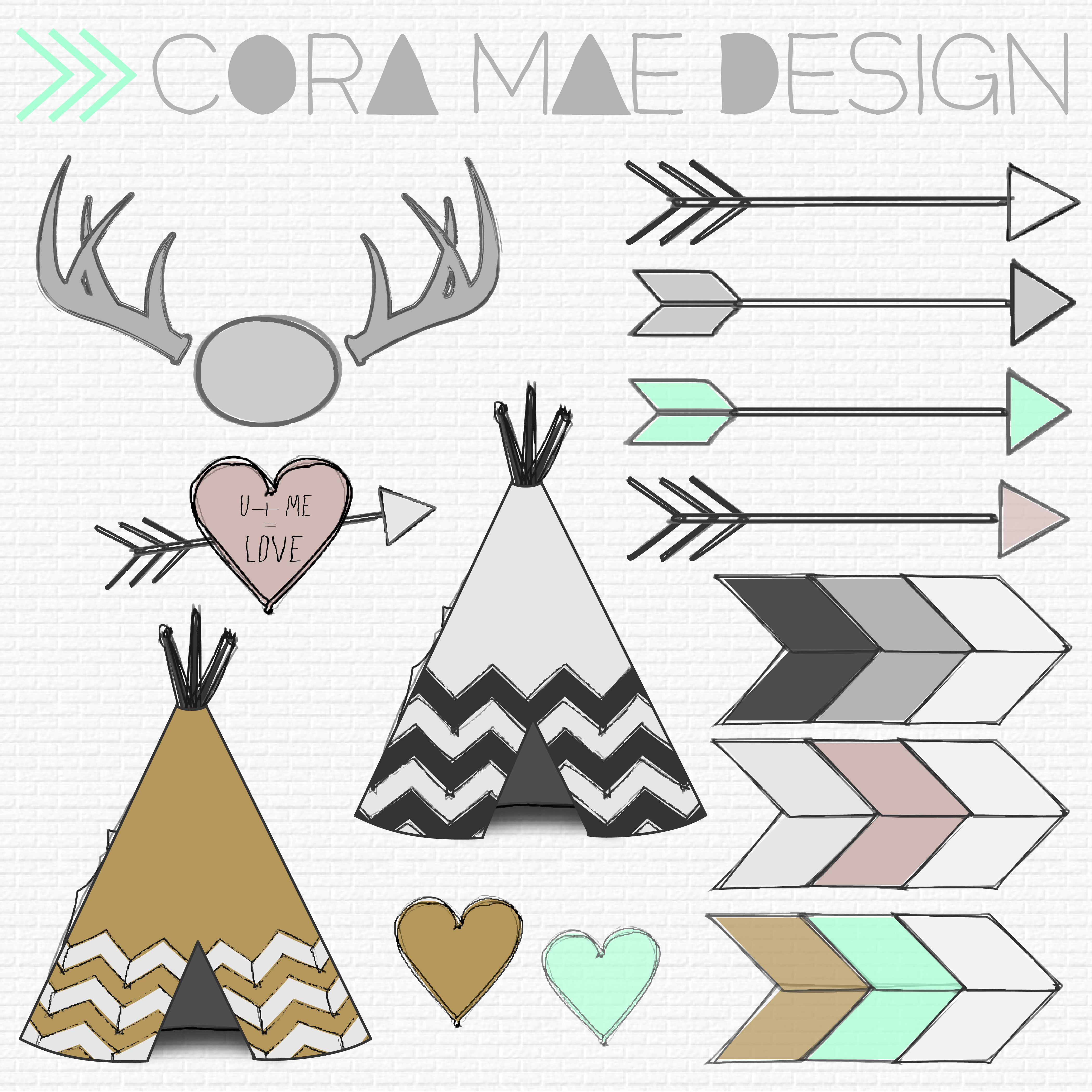 Free Tribal Clipart | Printables | Anniversaire, A Imprimer Et Dessin - Free Printable Teepee