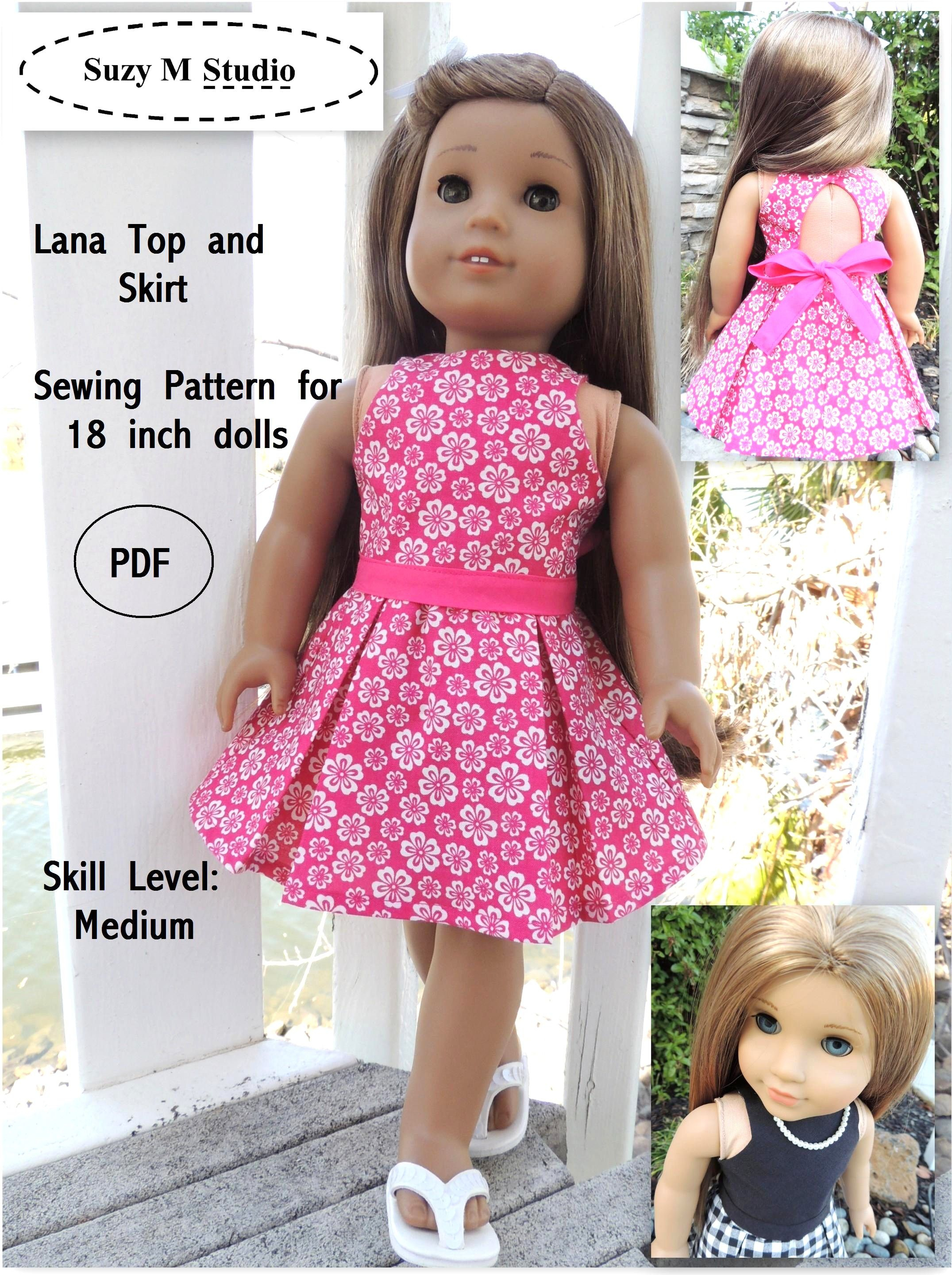 Free Tutorial Pdf   Suzymstudio …   Doll Clothes   Doll … - American Girl Doll Clothes Patterns Free Printable