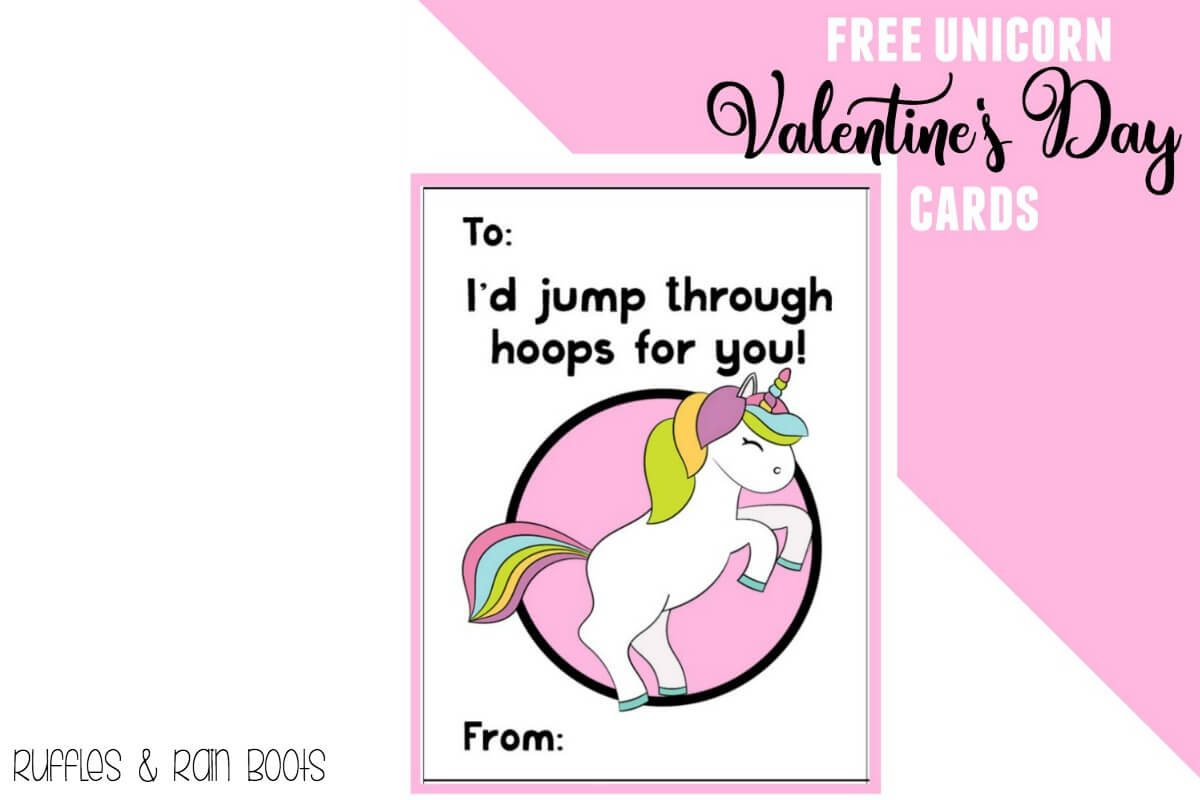 Free Unicorn Valentine's Day Cards Printable For Kids - Ruffles And - Free Printable Childrens Valentines Day Cards