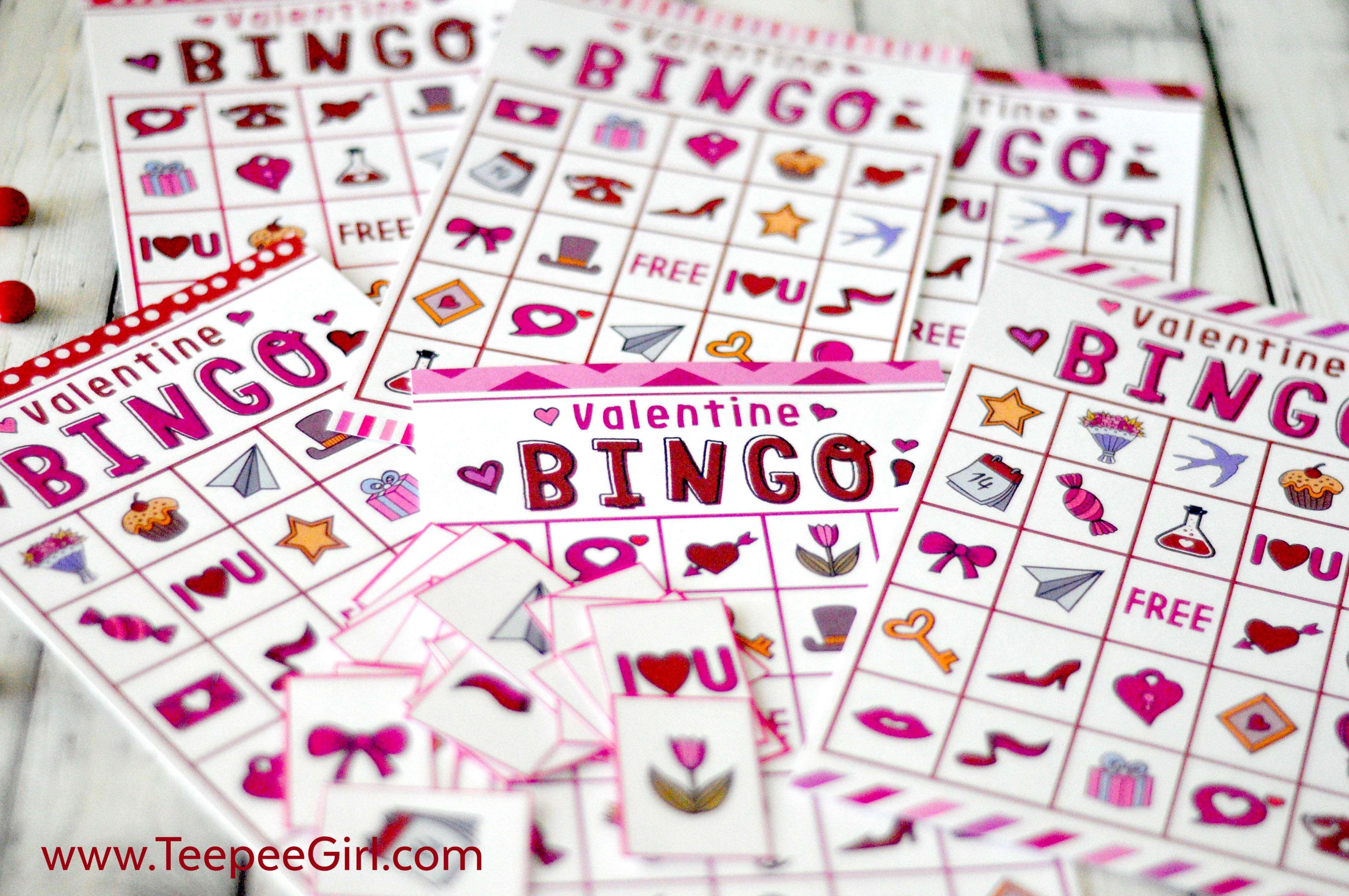 Free Valentines Day Printable Bingo Game - Free Printable Valentines Bingo