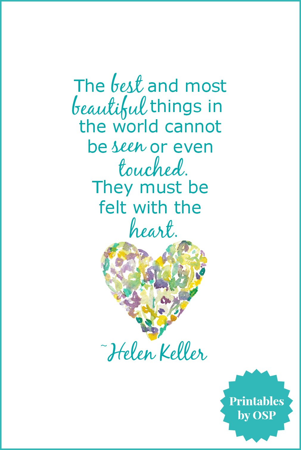 Free Valentine's Day Printables: Love & Hearts | Crafty | Pinterest - Free Printable Pictures Of Helen Keller