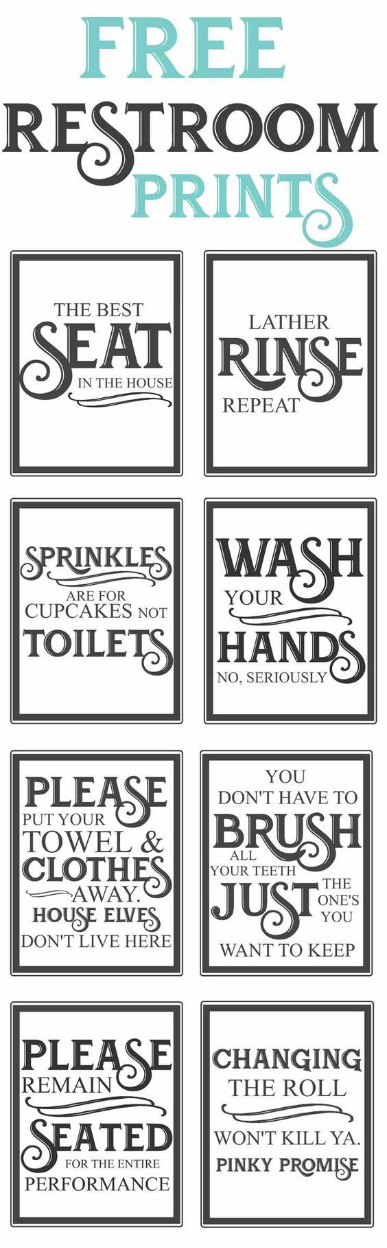 Free Printable Flush The Toilet Signs