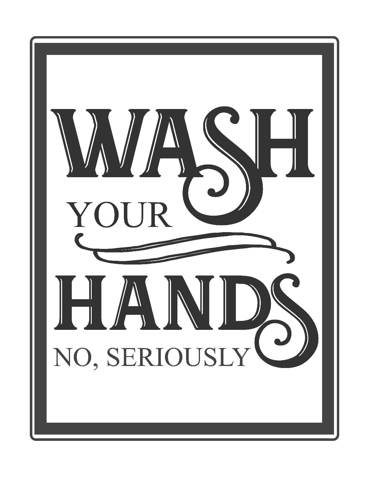 Free Vintage Bathroom Printables   Printables **   Bathroom Quotes - Free Wash Your Hands Signs Printable