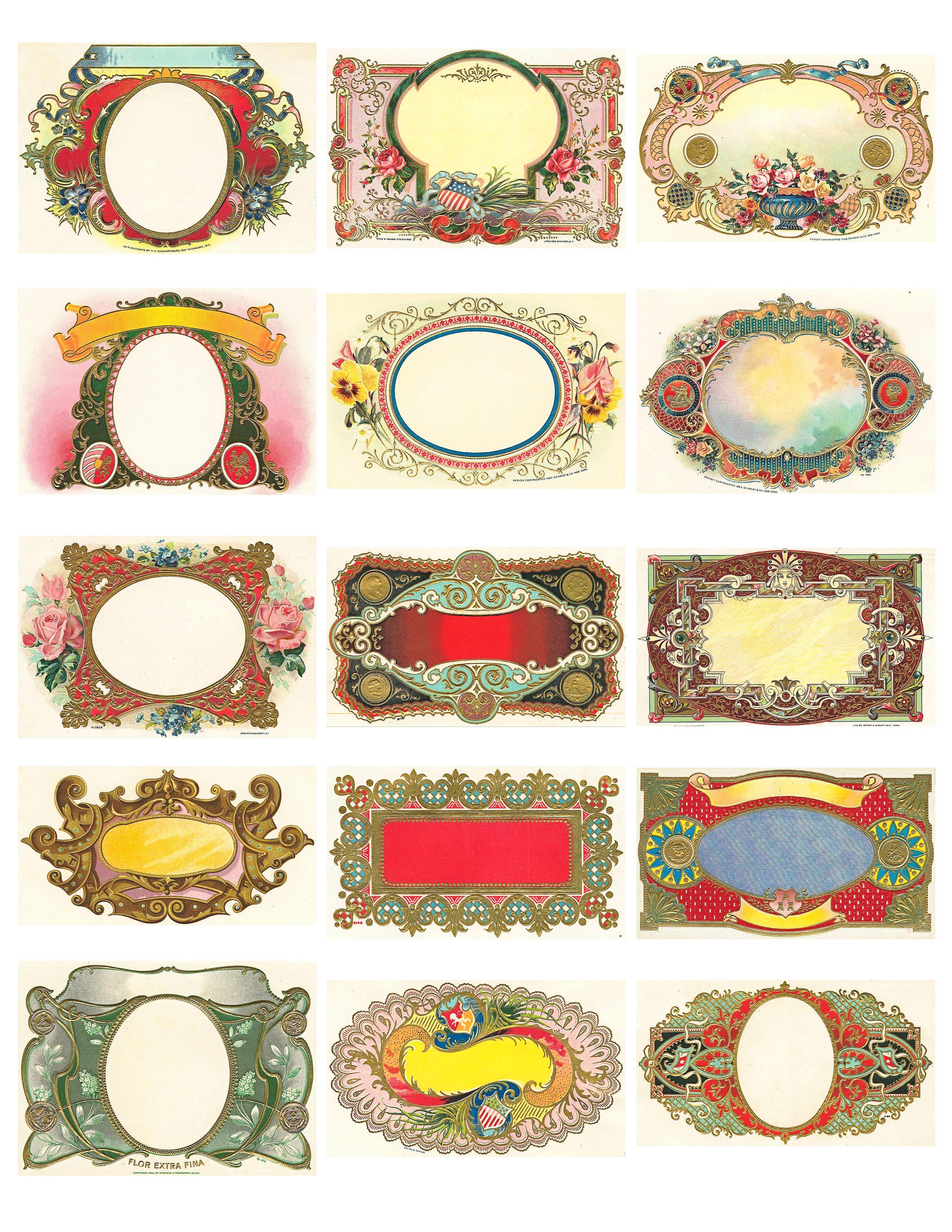 Free Vintage Labels Graphics Collage Sheet | Inspiring Ideas - Free Printable Vintage Labels