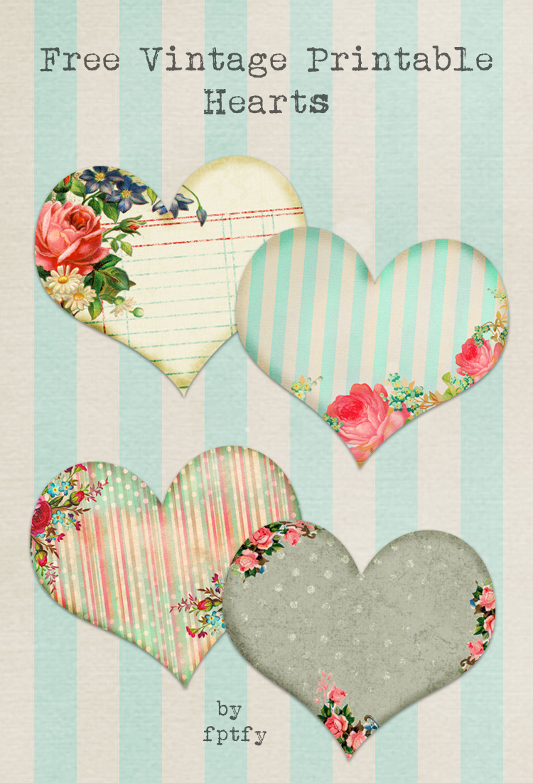 Free Vintage Printable Hearts - Free Pretty Things For You - Free Printable Vintage Pictures